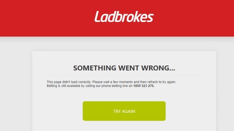 ladbrokes site is down