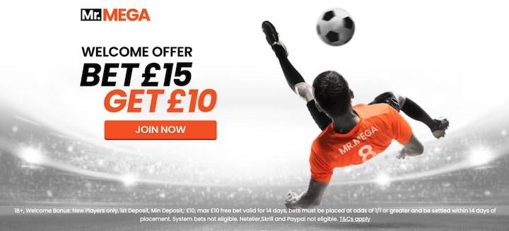 Mr Mega Sports landing page offer