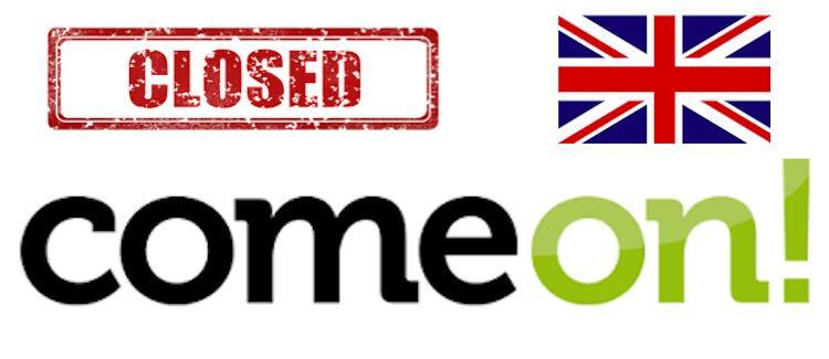 comeon closes UK market