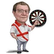 darts icon with man
