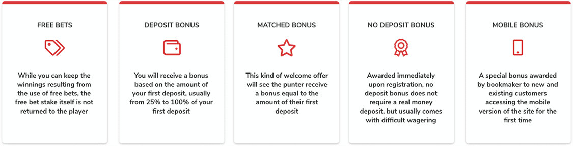 bonus offer types