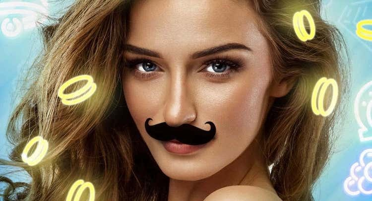 mr.play mustache woman